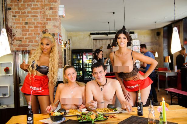 Pictures of naked women in resteraunts