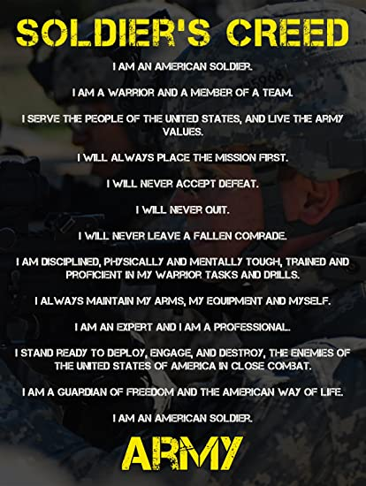 Soldiers creed